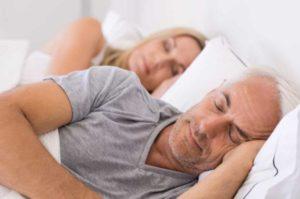 Two Santa Barbara Sleep Apnea Patients Resting in Bed