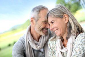 elderly dental implant couple