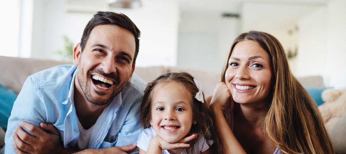 santa barbara family dental patients taking photo together